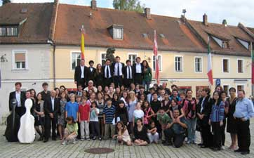 Group Photo of Music Students and musicians at SRIMF