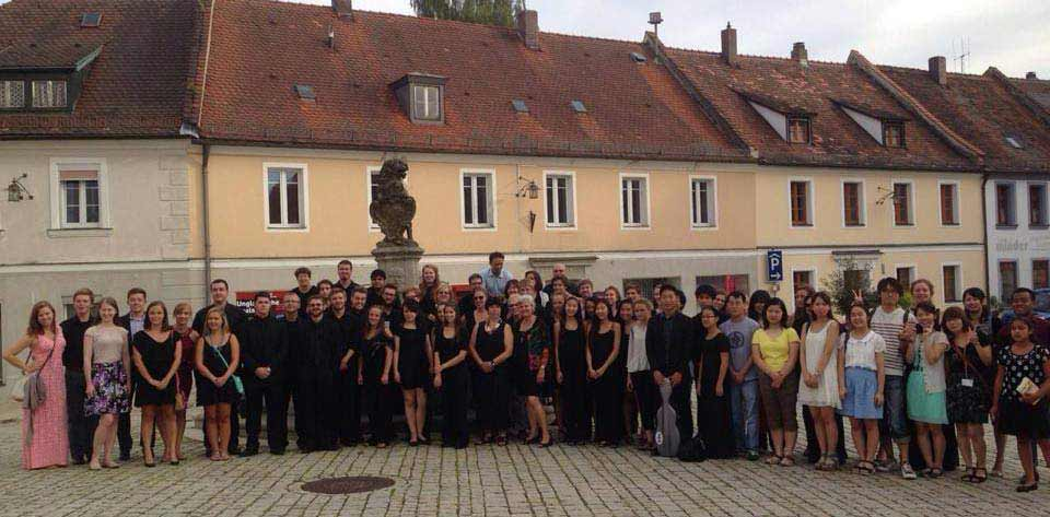 classical music festival group photo
