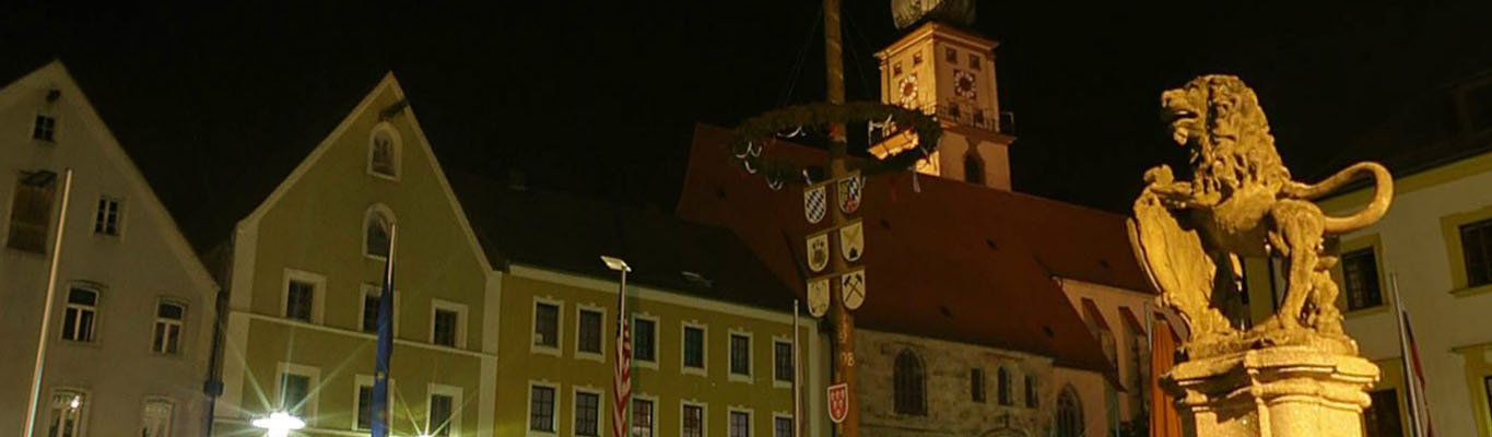Sulzbach-Rosenberg at night